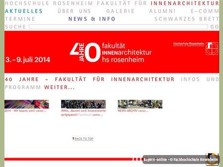 Maschinenbau bachelor for Innenarchitektur fh rosenheim
